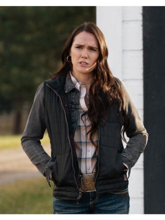 Yellowstone S03 Eden Brolin Black Vest