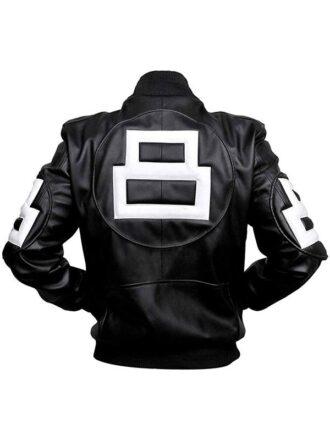 8 Ball Bomber Style Leather Jacket