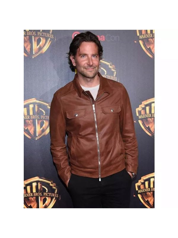 Bradley Cooper A Star Is Born Jackson Maine Brown Leather Jacket