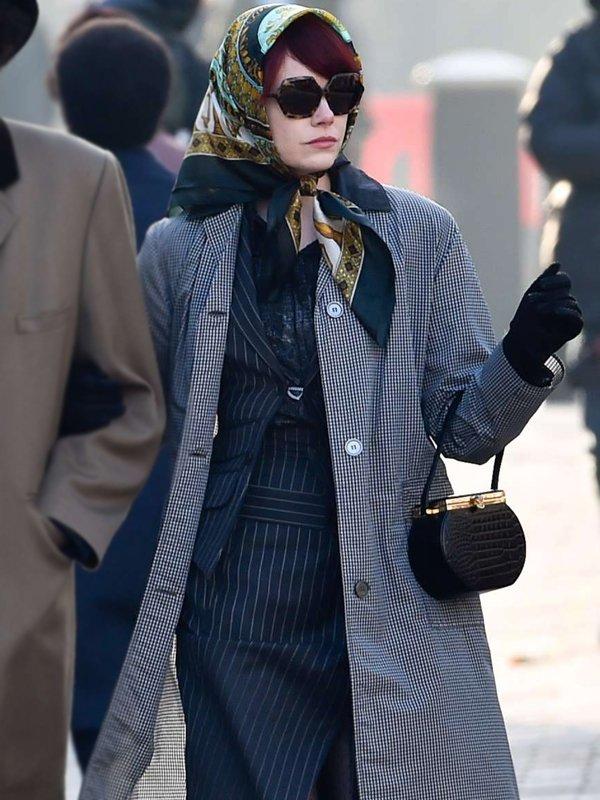 Cruella Emma Stone Houndstooth Coat