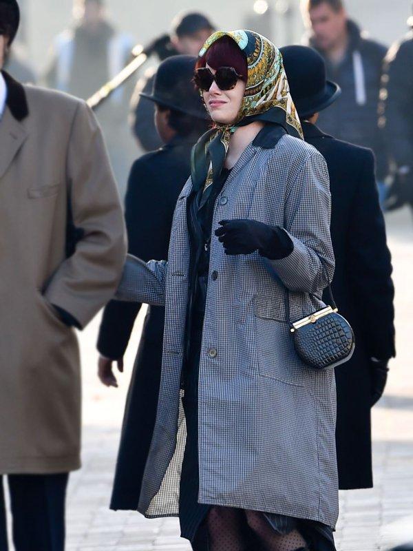 Cruella de Vil Cruella 2021 Emma Stone Houndstooth Trench Coat