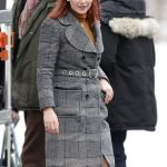 Don't Look Up Jennifer Lawrence Checked Coat