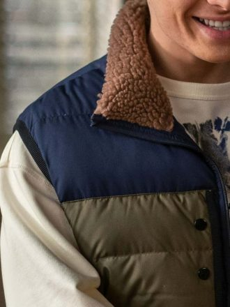 Gianni Paolo Power Book II Ghost Brayden Weston Puffer Vest With Fur Collar