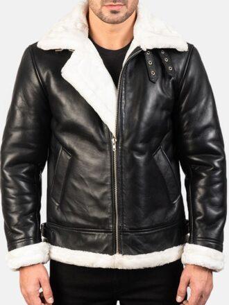 Men's B-3 Shearling Leather Bomber Jacket