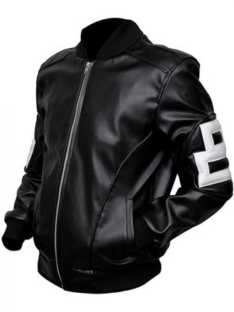 Seinfeld Michael Hoban Black Bomber 8 Ball Leather Jacke