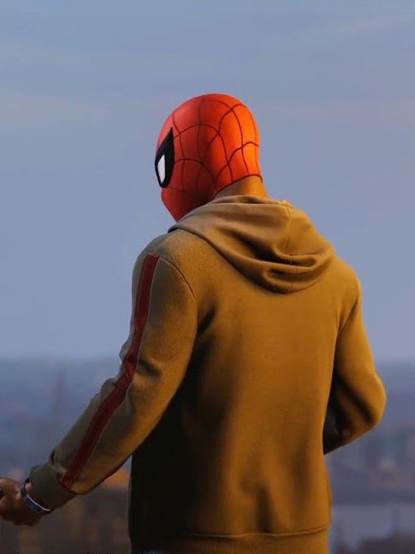 Video Game Spider-Man PS4 Miles Morales Yellow Hoodie