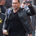 WWE Dave Batista Black Leather Jacket