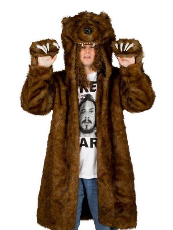 Workaholics Bear Faux Fur Jacket