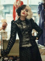 Cruella Deville Emma Stone Black Leather Jacket