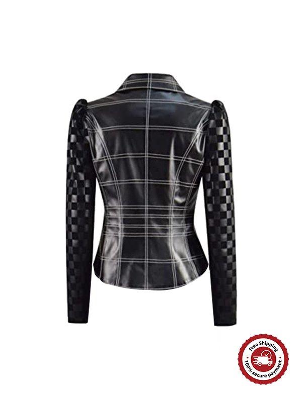 Emma Stone Cruella Black Leather Jacket