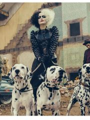 Emma Stone Cruella 2021 Cruella de Vil Leather Black Jacket