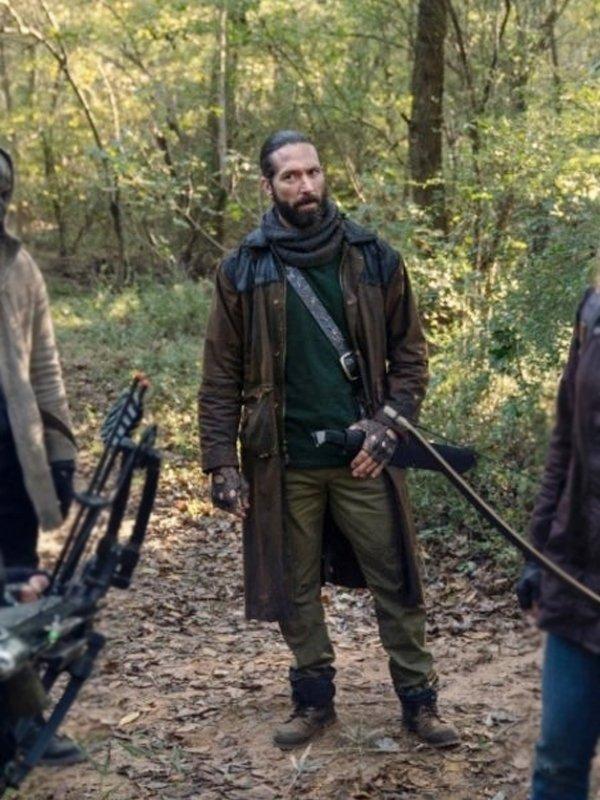 James Devoti The Walking Dead Cole Brown Long Coat