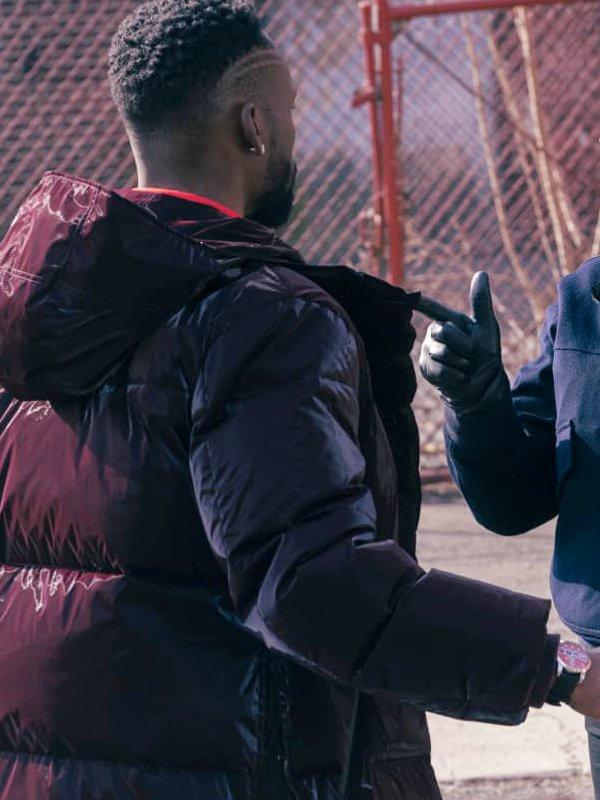 Kenya Bell The Equalizer Jayson Wesley Brown Hooded Puffer Jacket