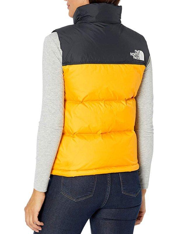 Laya DeLeon Hayes The Equalizer Delilah Yellow & Black Puffer Vest