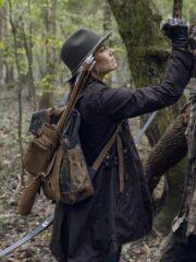 Maggie Rhee The Walking Dead Lauren Mid-length Brown Coat