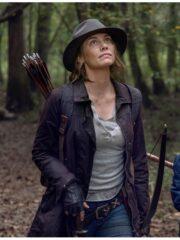 Maggie Rhee The Walking Dead Lauren Mid-length Brown Cotton Coat