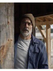 Negan The Walking Dead Jeffrey Dean Morgan Blue Cotton Jacket