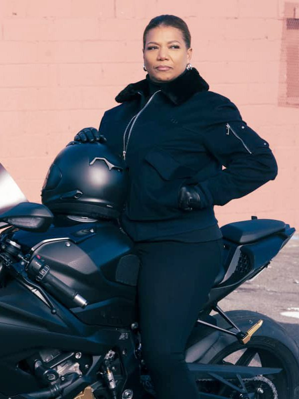 Queen Latifah The Equalizer Robyn McCall Cotton Black Jacket With Fur Collar