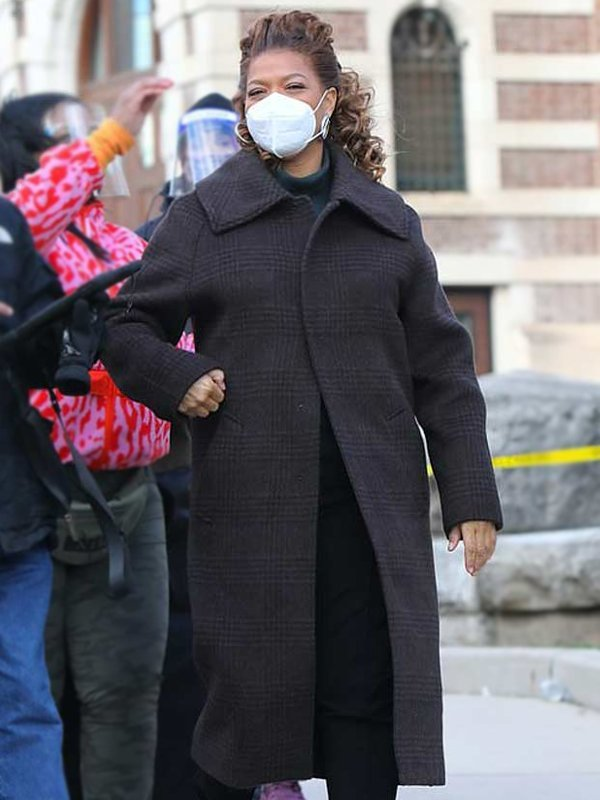 Queen Latifah The Equalizer Robyn McCall Grey Wool Trench Coat