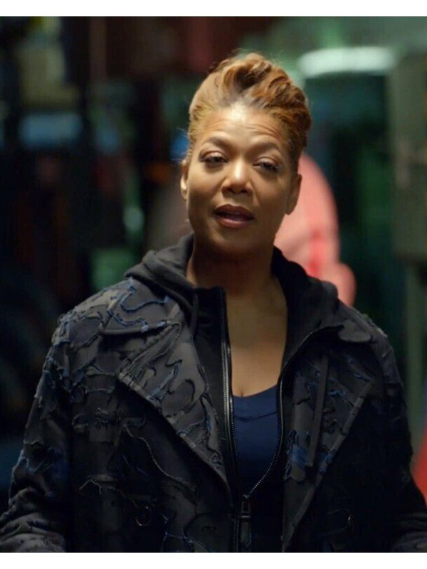 Robyn McCall The Equalizer Queen Latifah Black Cotton Long Coat
