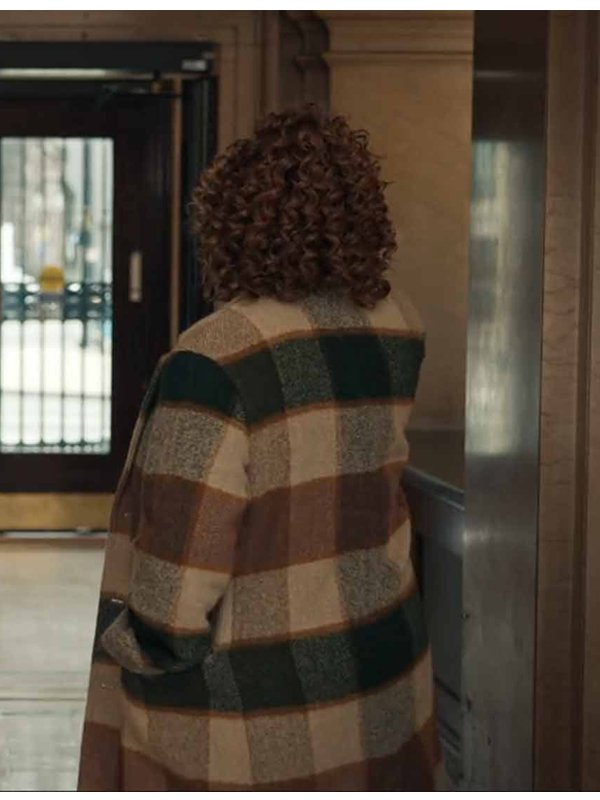 Robyn McCall The Equalizer Queen Latifah Long Wool Checked Coat