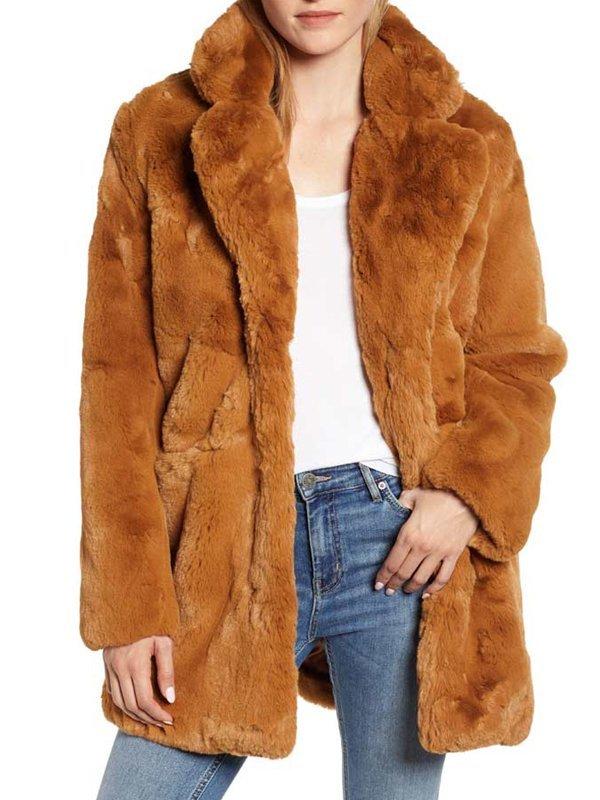 The Equalizer Liza Lapira Faux Fur Coat