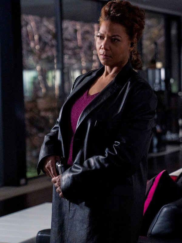 The Equalizer Queen Latifah Black Leather Coat