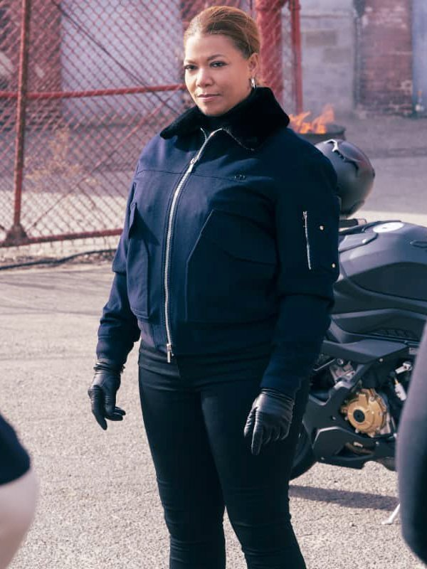 The Equalizer Queen Latifah Fur Collar Jacket