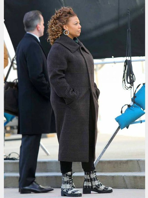The Equalizer Queen Latifah Grey Long Trench Coat
