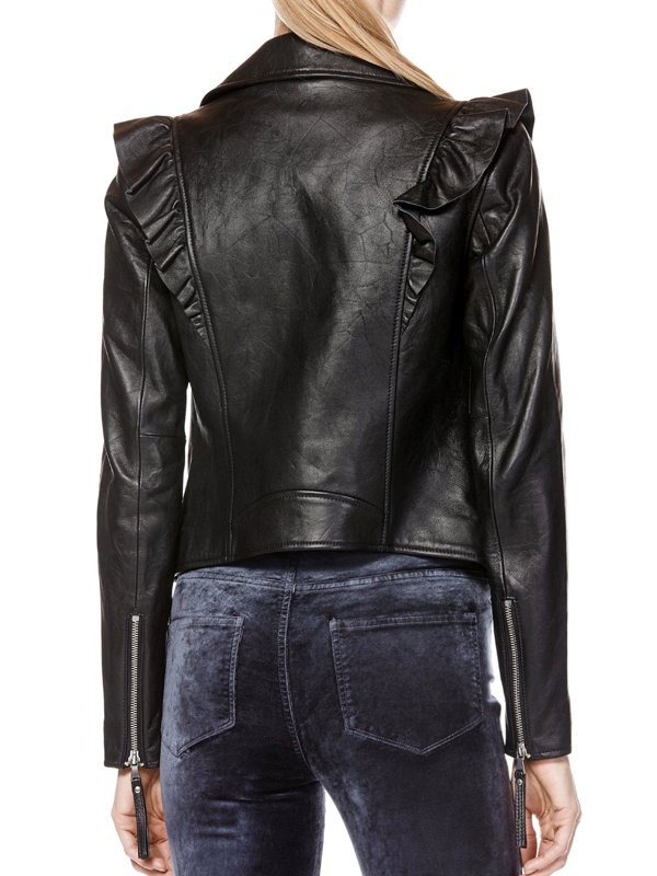 The Real Housewives of New Jersey Jackie Goldschneider Leather Black Jacket