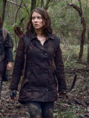 The Walking Dead Maggie Rhee Brown Coat
