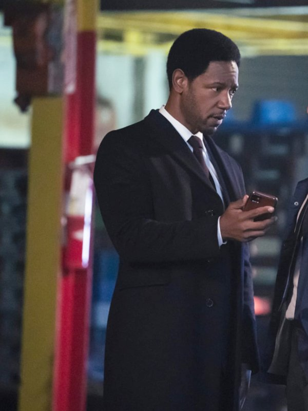 Tory Kittles The Equalizer Detective Marcus Dante Black Wool Trench Coat