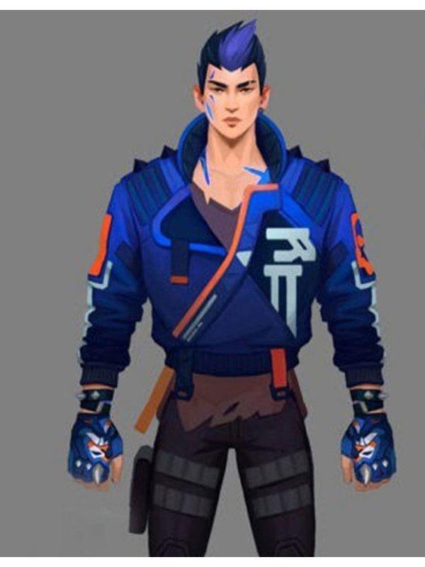 Valorant Yoru Blue Leather Jacket