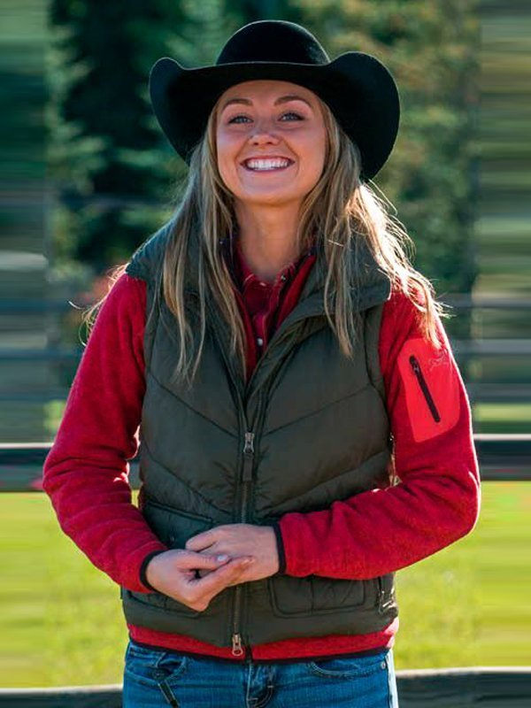 Amy Fleming Heartland Green Puffer Vest