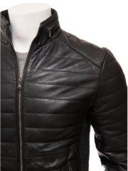 Casual Wear Mens Black Leather Jacket