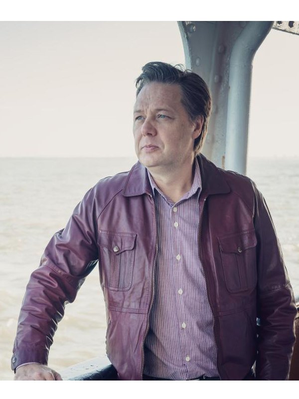 Clive Tozer Tv Series Shaun Dooley It's a Sin Maroon Leather Jacket