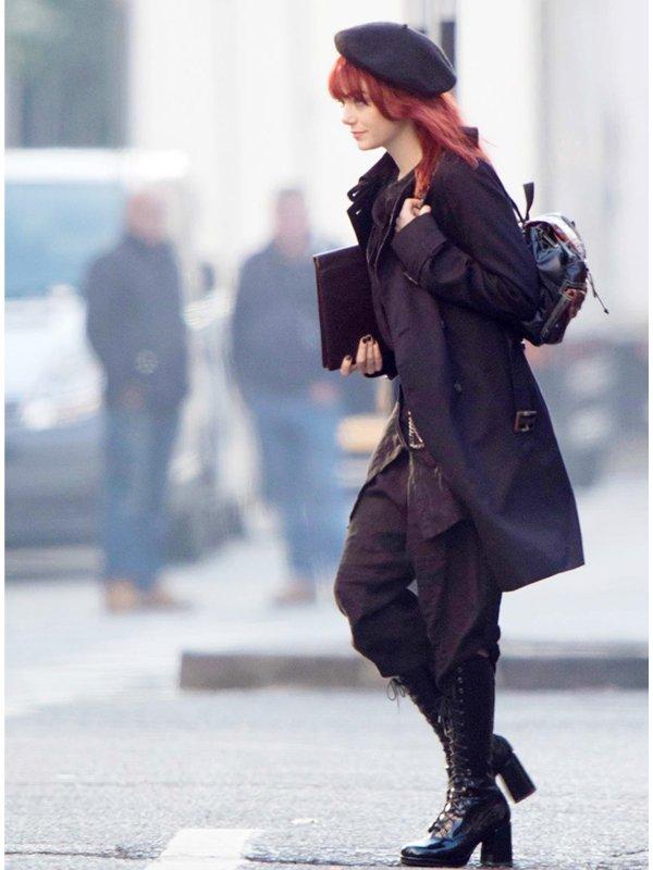 Cruella Emma Stone Black Trench Coat