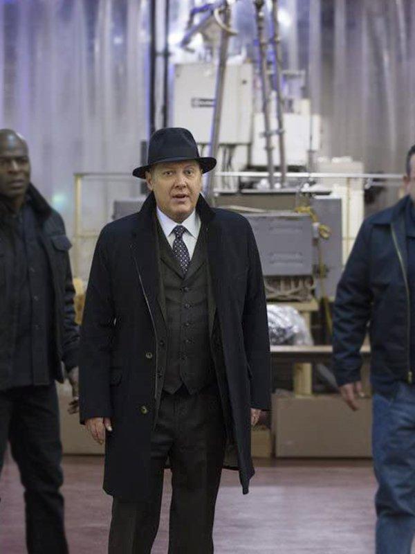 James Spader The Blacklist Raymond Reddington Black Wool Trench Coat