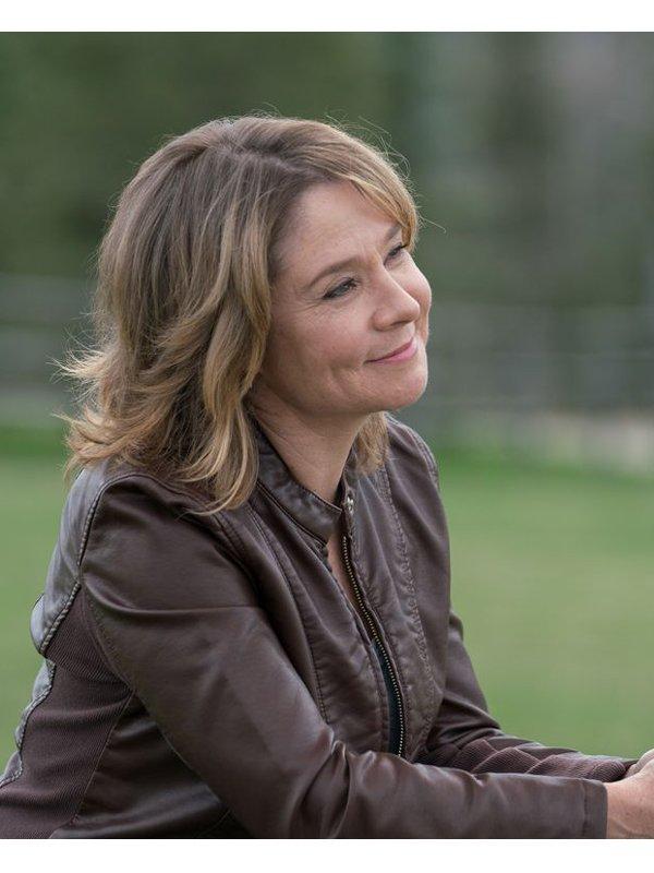 Megan Follows Tv Series Heartland Lily Borden Leather Brown Jacket
