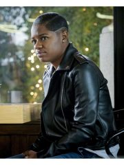 Tamia Cooper Tv Series All American Bre-Z Black Leather Motorcycle Jacket