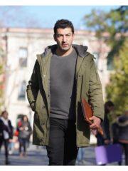 Tv Series Alef Kenan Imirzalioglu Green Hooded Parka Jacket