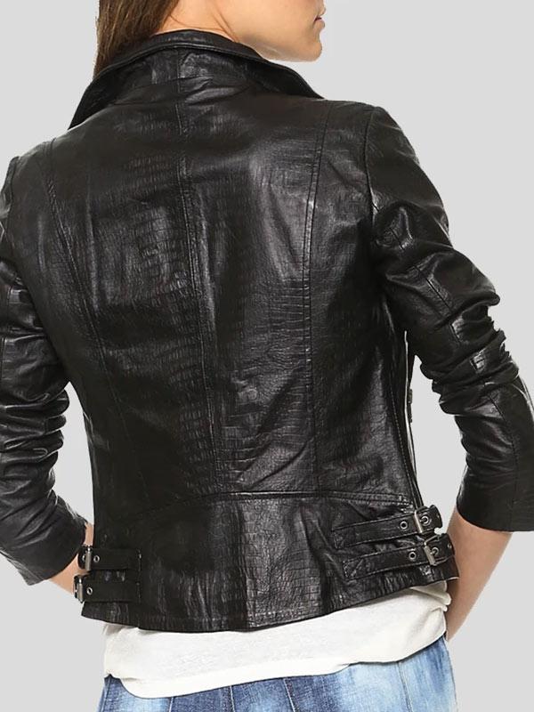 Womens Wear Black Leather Motorcycle Jacket