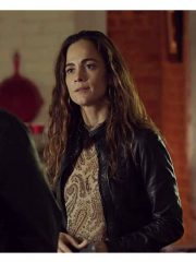 Alice Braga Tv Series Queen of the South Teresa Mendoza Leather Black Jacket
