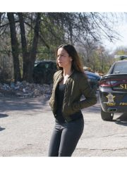 Alice Braga Tv Series Queen of the South Teresa Mendoza Quilted Green Bomber Jacket