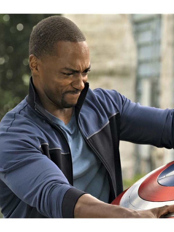 Anthony Mackie The Falcon & the Winter Soldier Sam Wilson Black & Blue Jacket