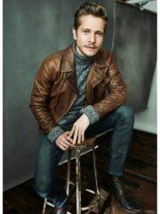 Conrad Hawkins TV Series The Resident Matt Czuchry Leather Brown Jacket