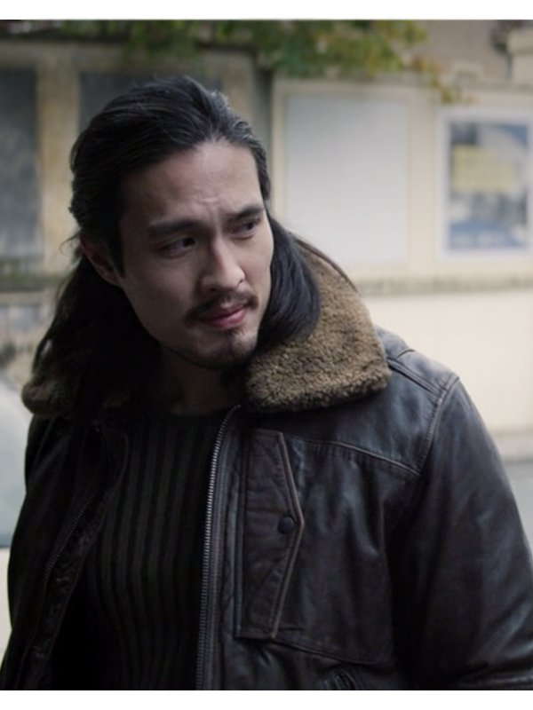 Desmond Chiam The Falcon and the Winter Soldier Dovich Leather Bomber Jacket