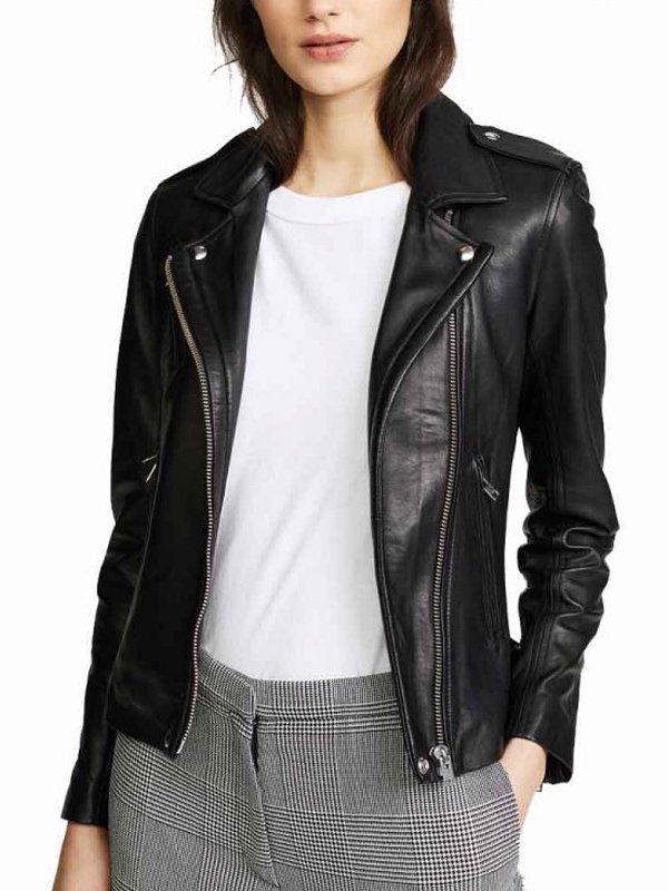 Elizabeth Tulloch Superman & Lois Black Leather Jacket