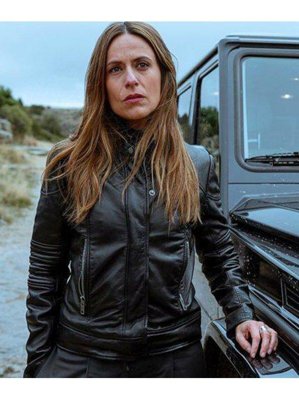 Itziar Ituño Money Heist Raquel Murillo Leather Black Jacket