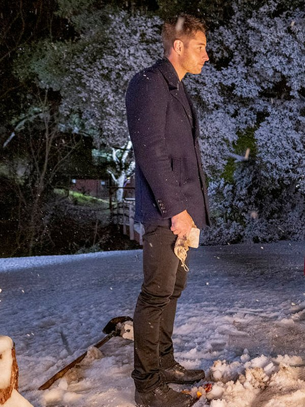 Justin Hartley This is Us Kevin Pearson Double Breasted Blue Coat